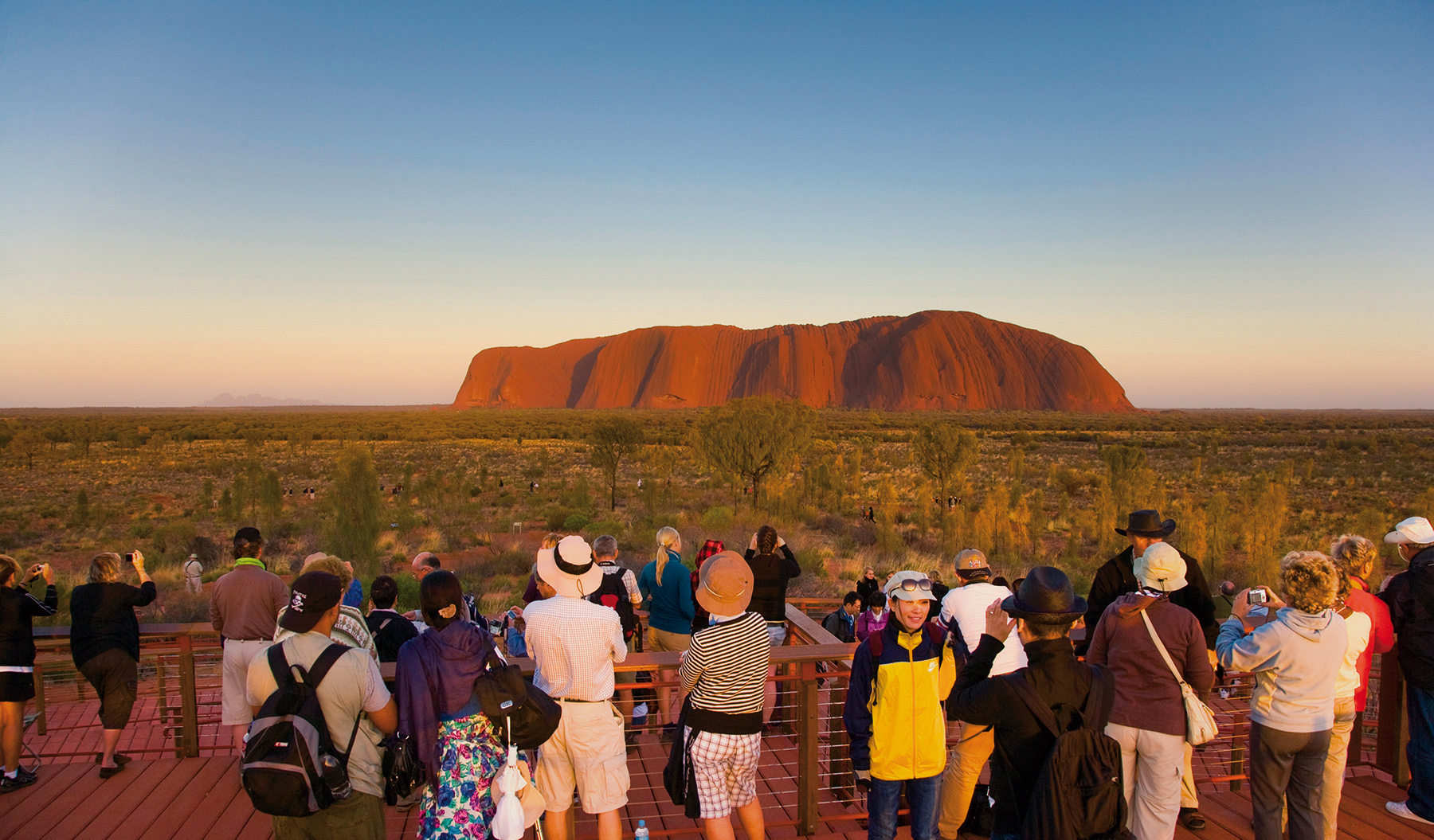 Uluru sunrise lookout